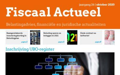 Fiscaal Actueel Oktober 2020
